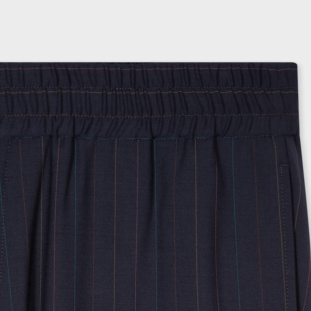 NAVY BLUE WOOL PANTS WITH DIPLOMATIC STRIPE PAUL SMITH  M1R-629U-F01336-49