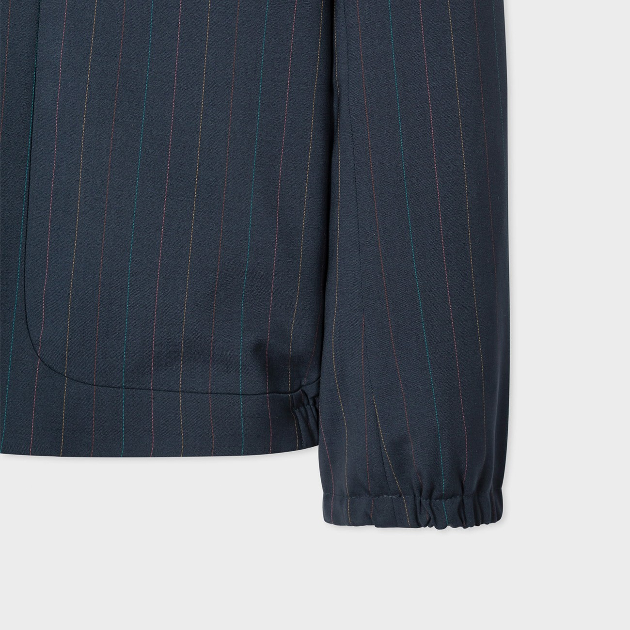 NAVY BLUE WOOL JACKET WITH DIPLOMATIC STRIPE PAUL SMITH M1R-1984-F01336-49