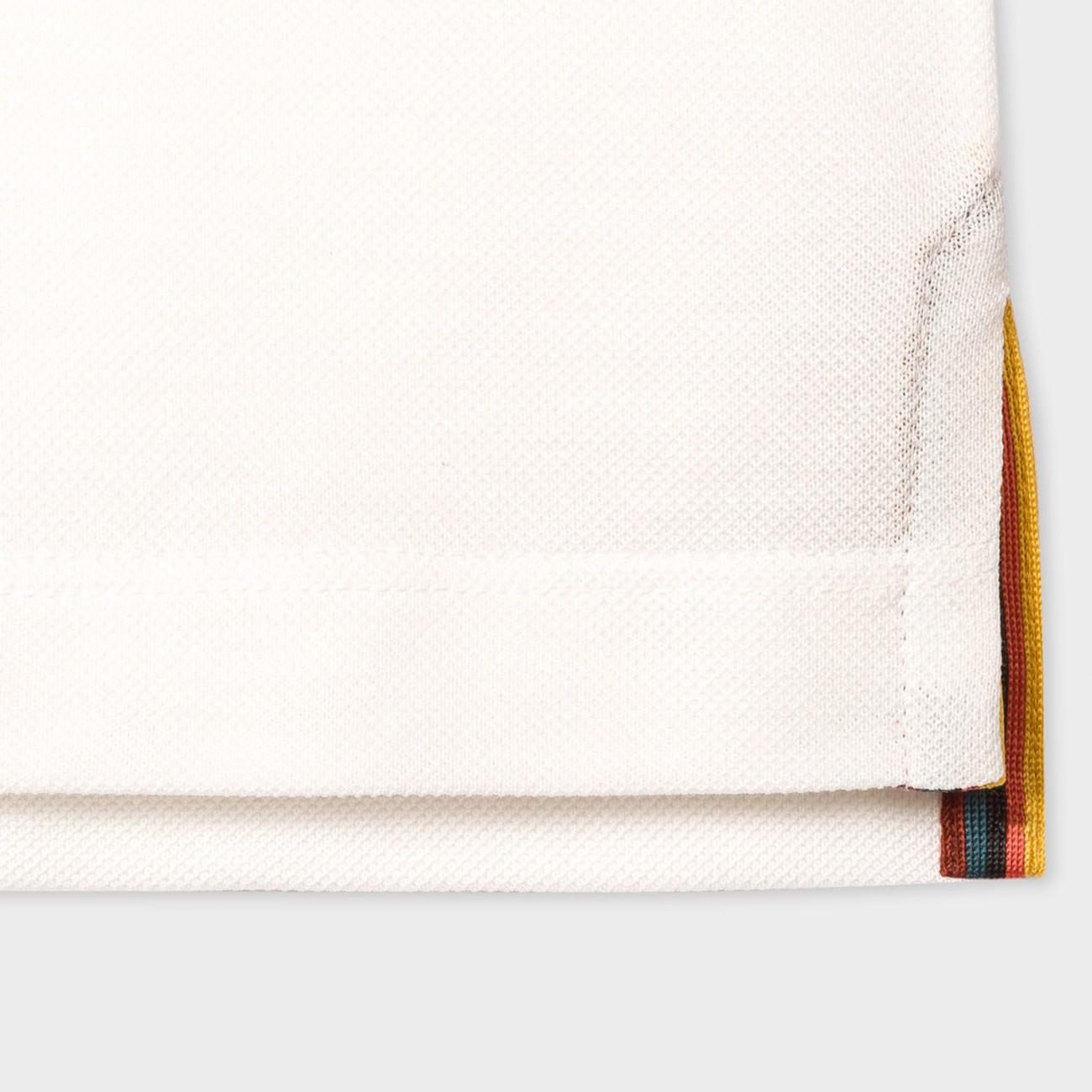 WHITE COTTON POLO SHIRT ARTIST STRIPE PAUL SMITH M1R-799RS-D00089-01