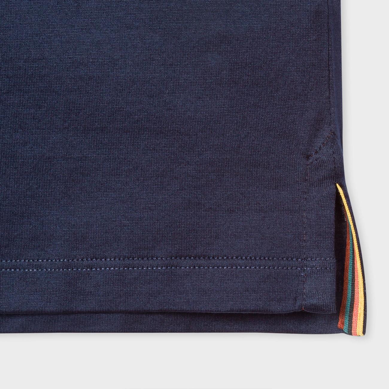 DARK NAVY BLUE T-SHIRT TRIMS ARTIST STRIPE PAUL SMITH M1R-348S-D00088-49