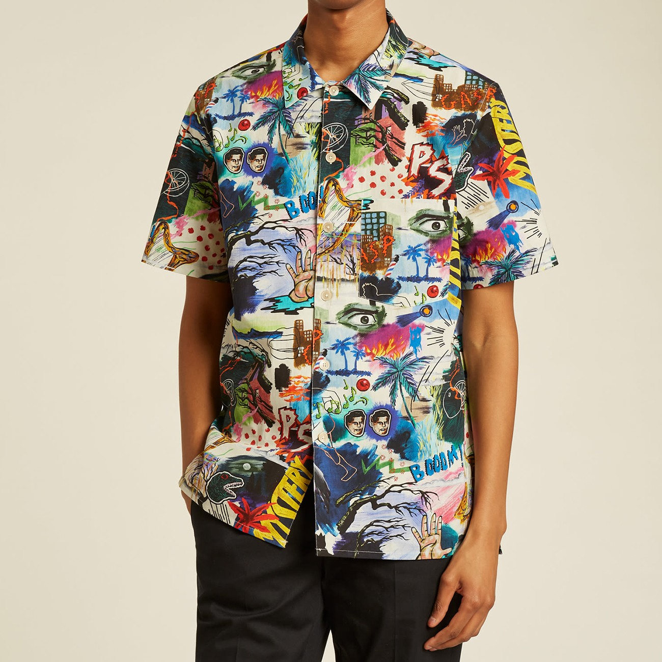 CASUAL COTTON SHIRT WITH ORGANIC PRINT PAUL SMITH M1R-832T-F21236-92