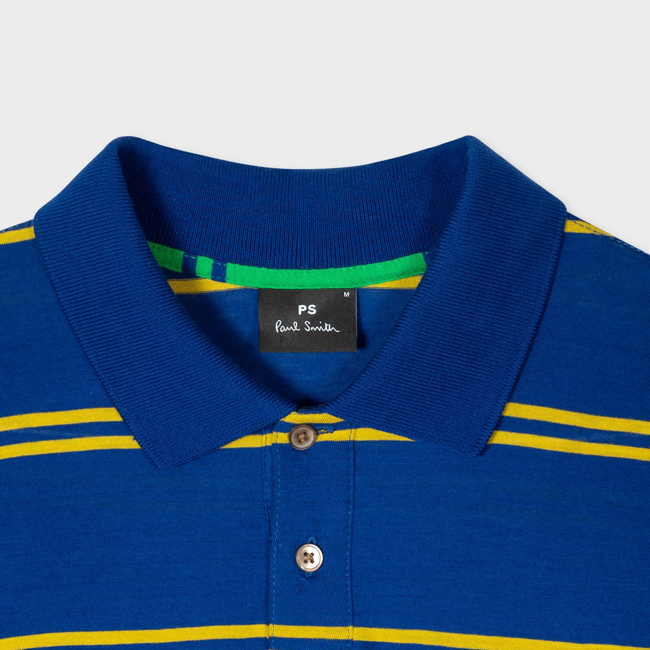 HAPPY BLUE POLO SHIRT WITH YELLOW STRIPES PS PAUL SMITH M2R-115L-F21166-46