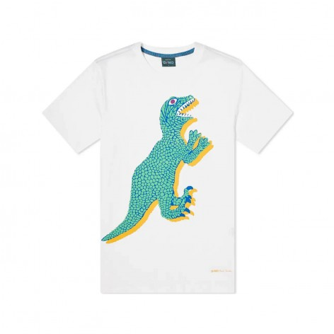 WHITE T-SHIRT WITH DINO PAUL SMITH PRINT M2R-011R-FP2506-01