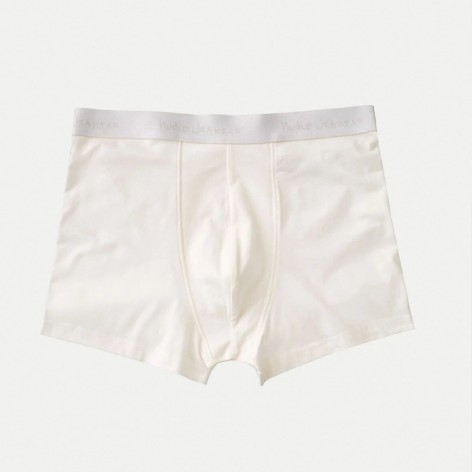 WHITE ORGANIC COTTON BOXERS NUDIE JEANS 170279