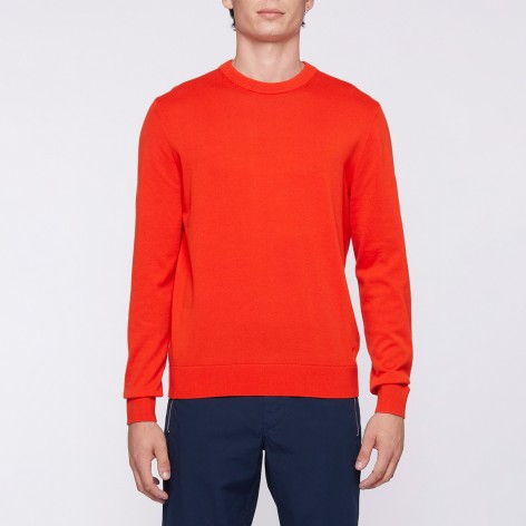 RED ROUND NECK PAUL SMITH SWEATER M2R-695T-F21189-25