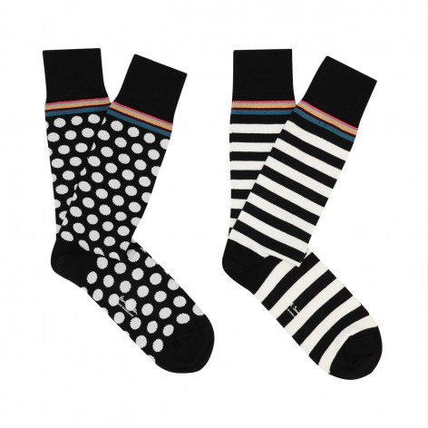 PACK OF 2 PAIRS OF ODD PAUL SMITH MEN'S SOCKS M1A-SOCK-A2PKOD-2A-0