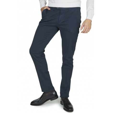 CANALI NAVY BLUE COTTON TROUSERS  PT 534CNK