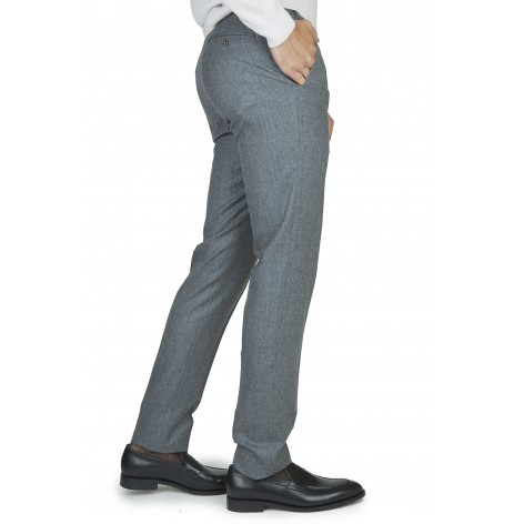 CANALI ANTHRACITE GRAY WOOL TROUSERS  PT 19/200