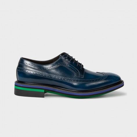 BLUE LEATHER SHOES PAUL SMITH  M1S-CHA08-EHSH-41
