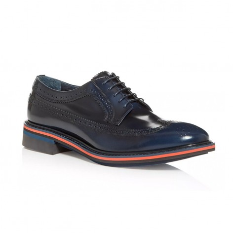 PAUL SMITH DARK NAVY LEATHER SHOES  M1S-CHA07-EHSH-49