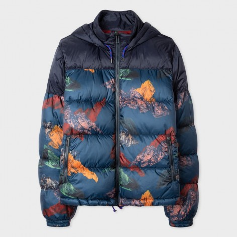 POLYESTER JACKET WITH 'MOUNTAIN' PRINT PAUL SMITH  M2R-408U-E21065-92