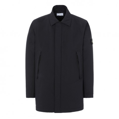 BLACK RAINCOAT SHOFT SHELL-R STONE ISLAND 41727-V0029