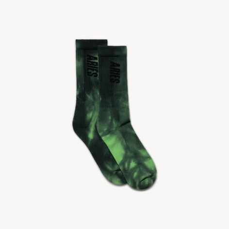 GREEN SOCKS TIE DYE ARIES ARISE SRAR00044_GRN